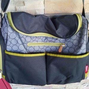 Fisher Price Black Green Fast Finder Diaper Bag